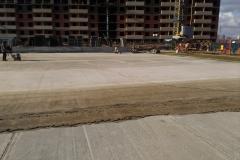 Скейтпарк 1500 м2. Шлифовка бетонного основания