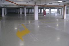 Паркинг 2650 м2. Эпоксидное покрытие 3 мм