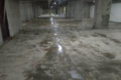 Паркинг 2800 м2.  Шлифовка бетонного основание с нанесением литиевой пропитки